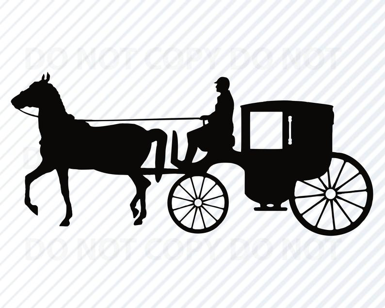 Horse svg files stage. Carriage clipart logo