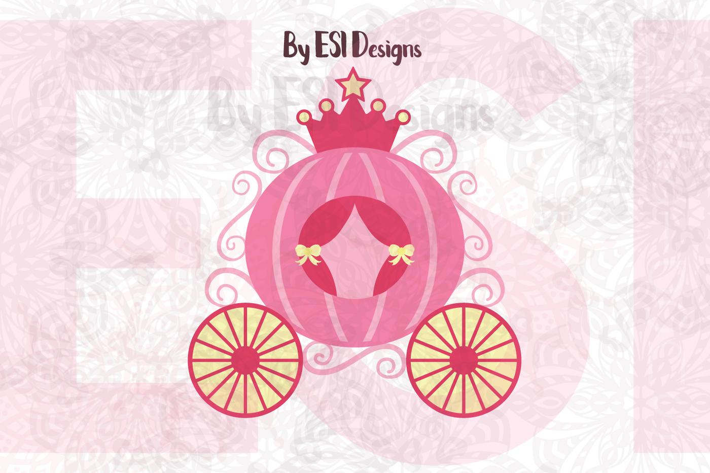Carriage clipart logo. Princess svg dxf eps