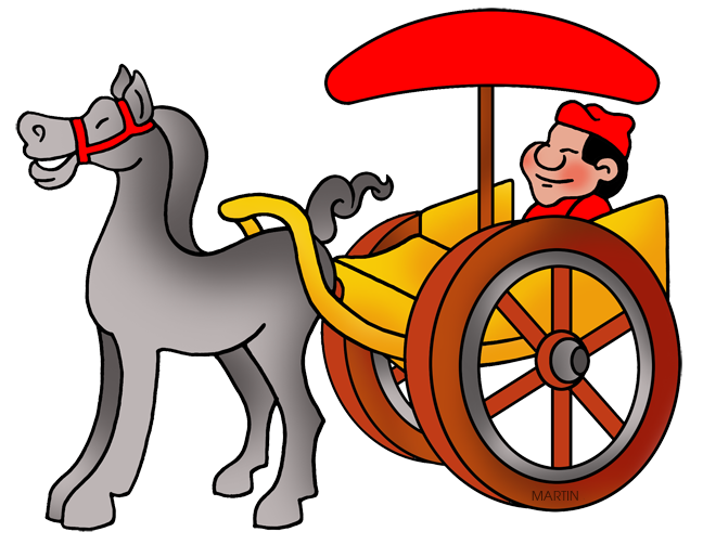 Chariot of royal k. Carriage clipart logo