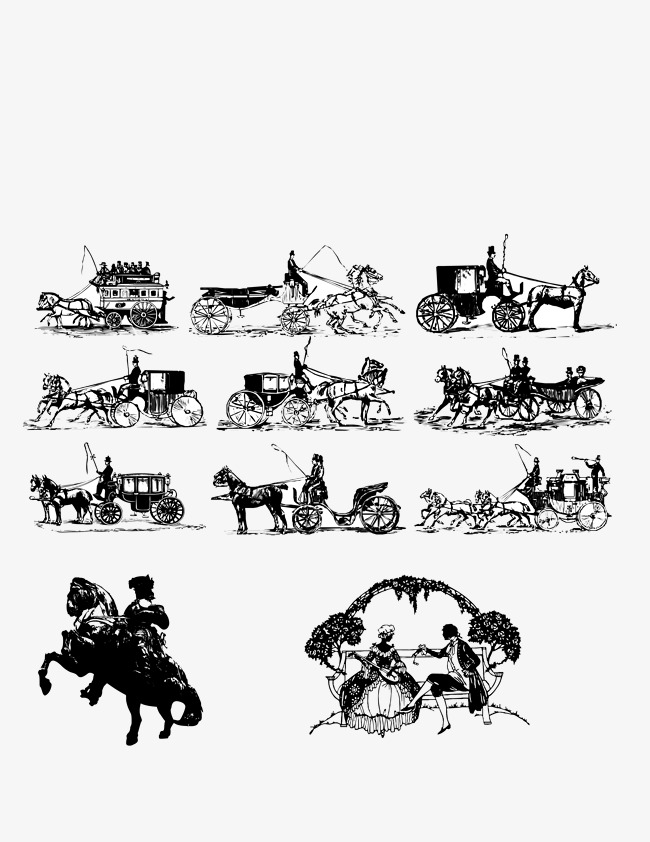 Middle ages retro png. Carriage clipart medieval