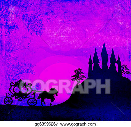 Carriage clipart medieval. Drawing at sunset silhouette