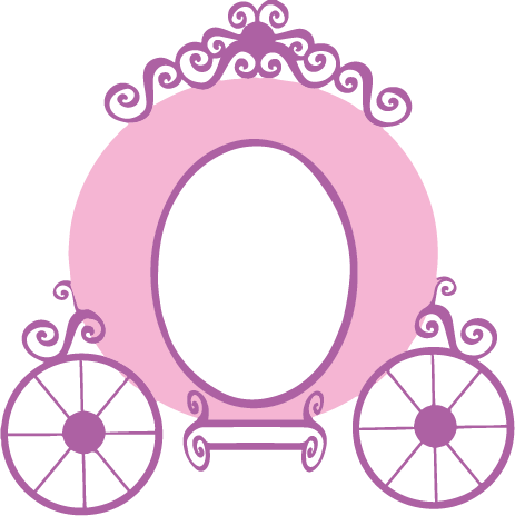 Carriage clipart pink princess. Decal vinyl disney party