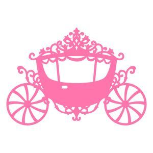 Carriage clipart pink princess. Svg file cameo silhouette
