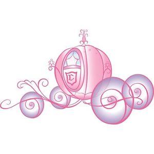 New disney cinderella wall. Carriage clipart pink princess