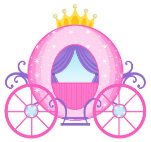 Carriage clipart pink princess. Stickers zazzle