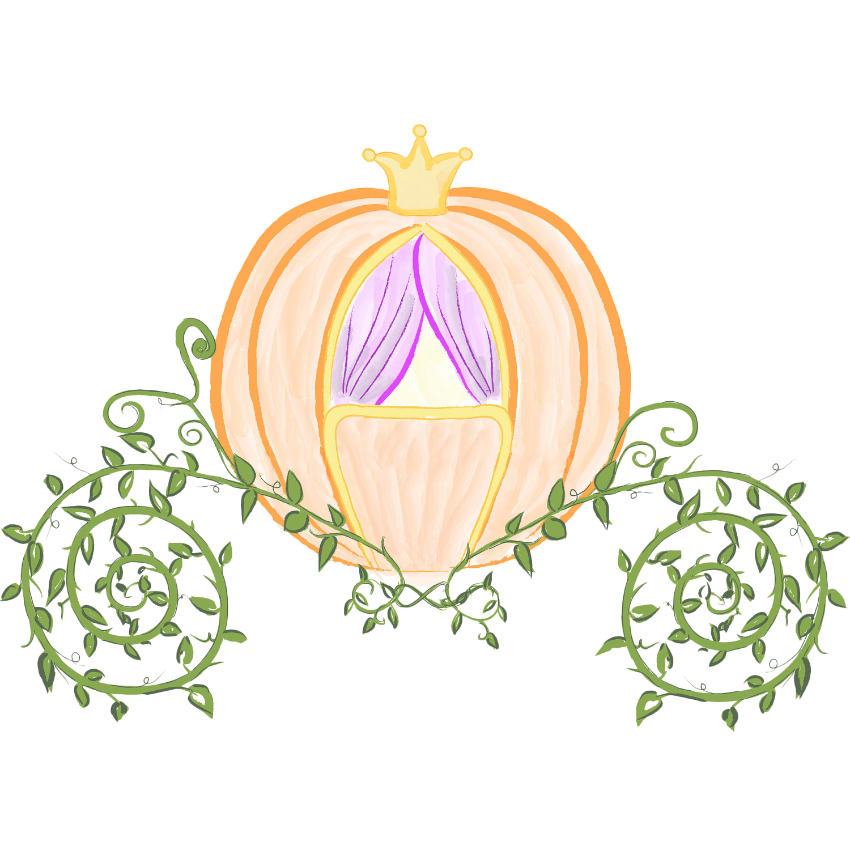 Cinderella pumpkin clip art. Carriage clipart prince charming