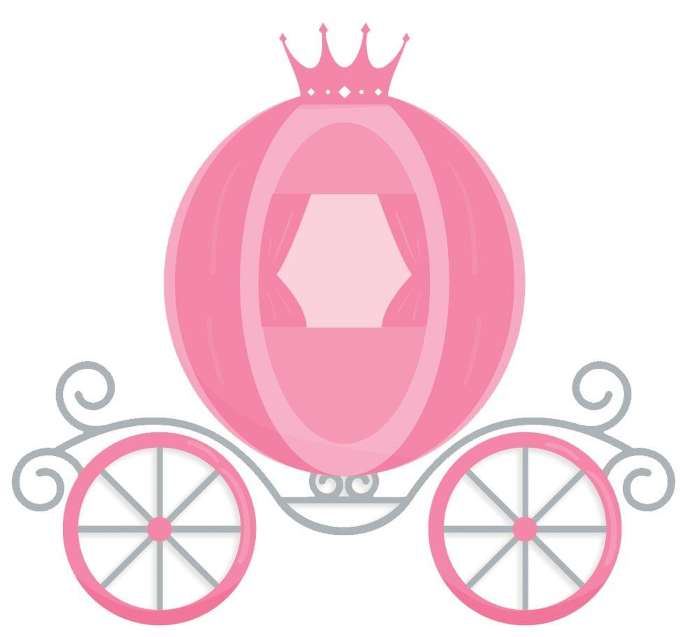 Wall decal canvas art. Carriage clipart princess