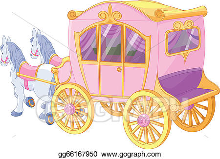 Vector stock illustration . Carriage clipart princess