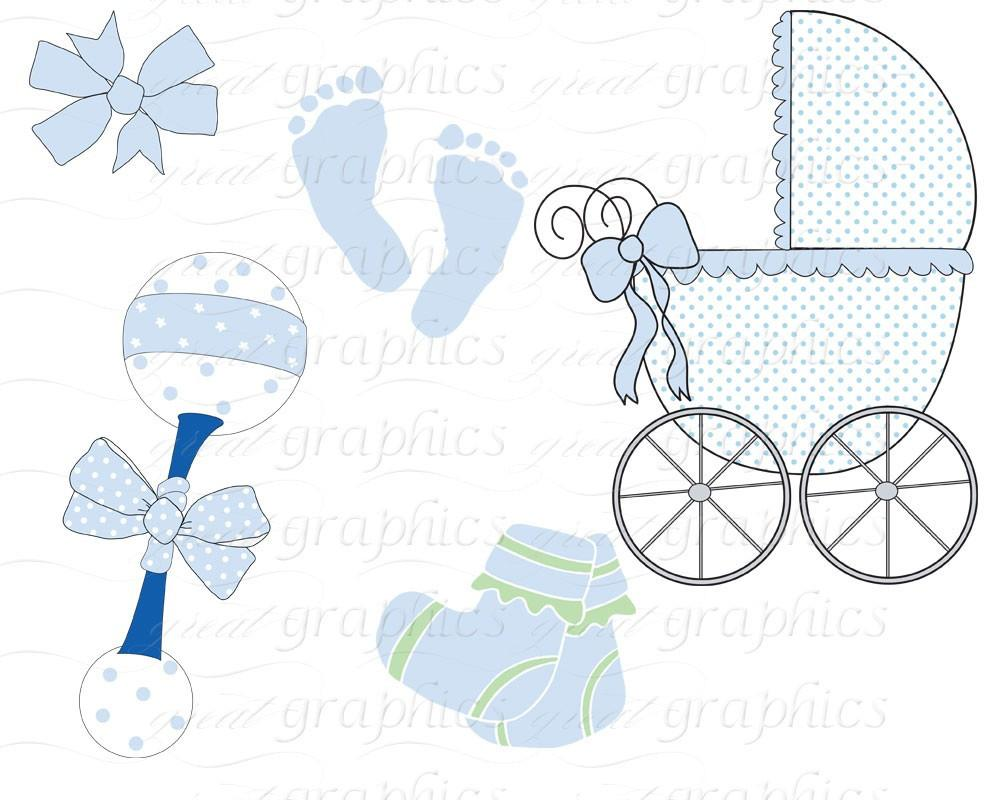 Baby digital clip art. Carriage clipart printable