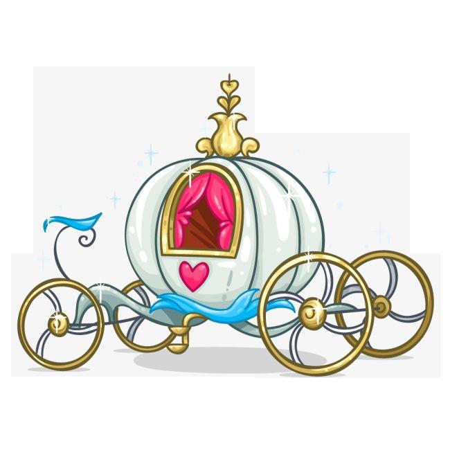 Carriage clipart printable. Cinderella clip art cartoon