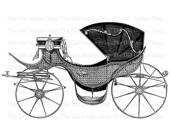 Carriage clipart printable. Horse drawn vintage car
