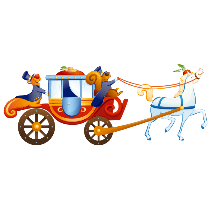 Carriage clipart royal carriage. Wizards and princesses wall