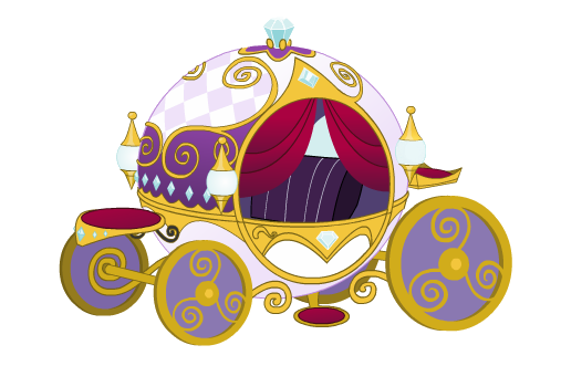 Carriage clipart royal carriage. By coni pony girl