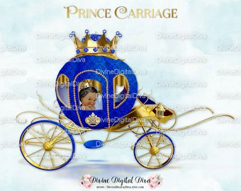 Etsy little prince coach. Carriage clipart royal carriage