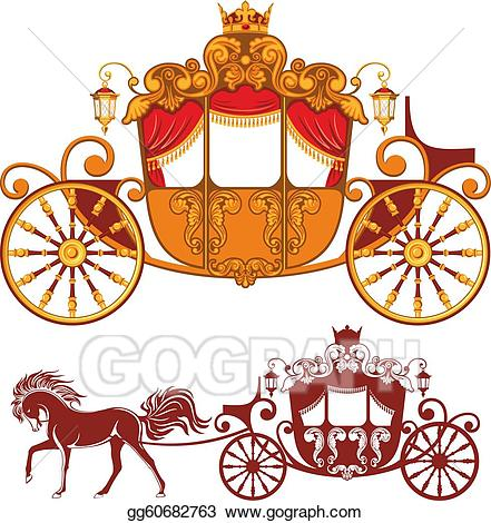 Eps illustration vector gg. Carriage clipart royal carriage