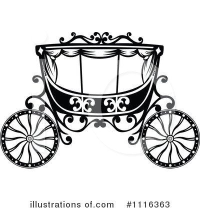 Carriage clipart royal carriage. Illustration by vector tradition