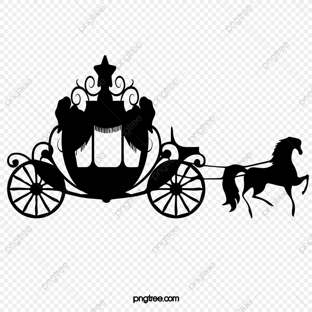 Princess cars transportation . Carriage clipart silhouette