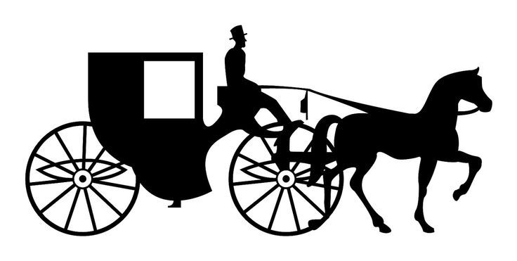 Carriage clipart silhouette. Easter png cerca con