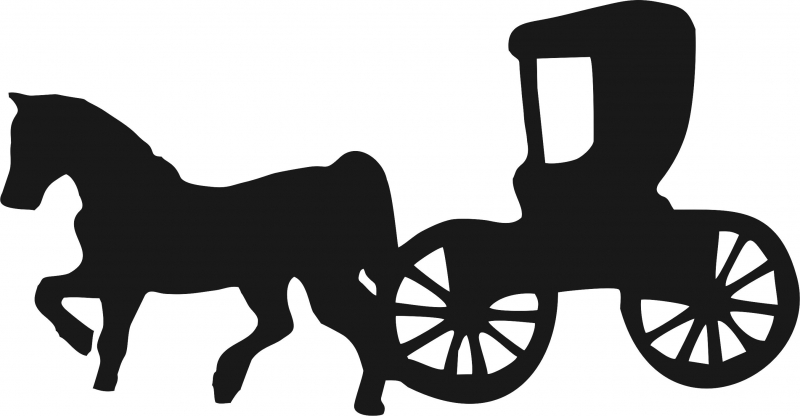 Horse drawn at getdrawings. Carriage clipart silhouette
