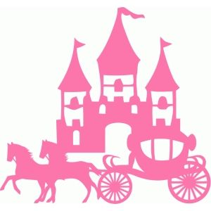 Carriage clipart silhouette. Design store princess castle