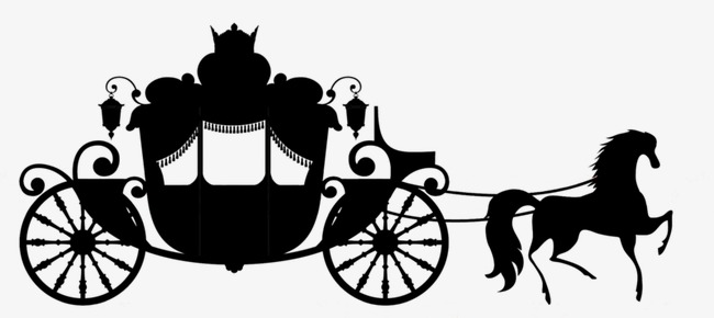 Carriage clipart silhouette. Sketch wedding png image