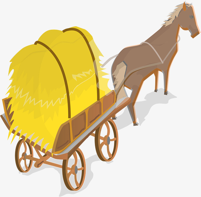 Little fresh grey watercolor. Carriage clipart simple
