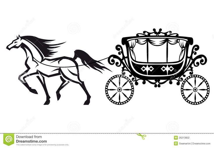 Carriage clipart simple.  best castle silhouettes
