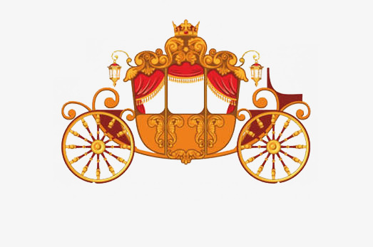 Cartoon lovely gorgeous png. Carriage clipart simple
