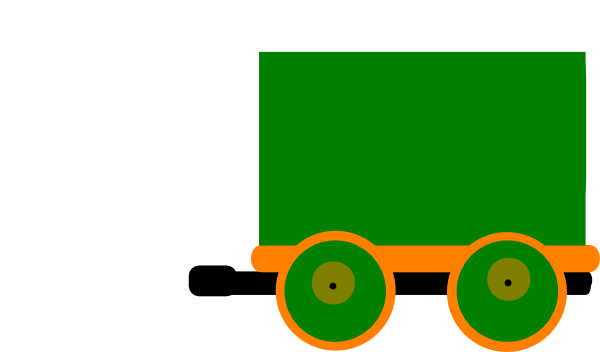 Toot train and mk. Carriage clipart simple
