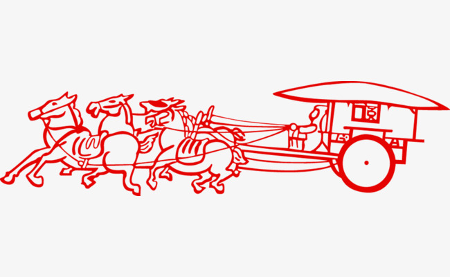 Carriage clipart simple. Red paper cut png