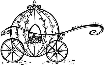 Carriage clipart simple. Princess pumpkin coach digi
