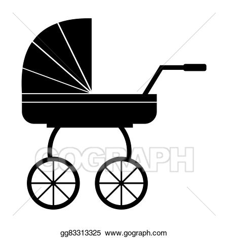 Carriage clipart simple. Stock illustration baby icon