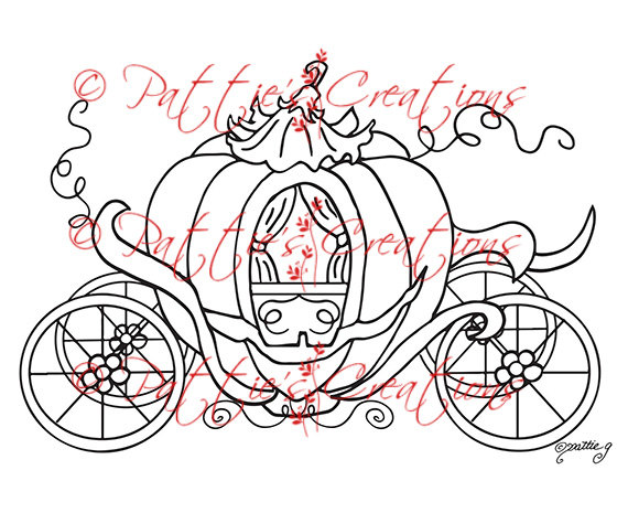 Carriage clipart sketch. Cinderella drawing at getdrawings