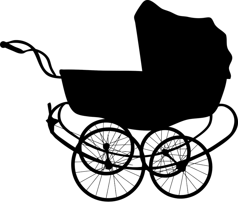 Baby pram png stickpng. Carriage clipart transparent background