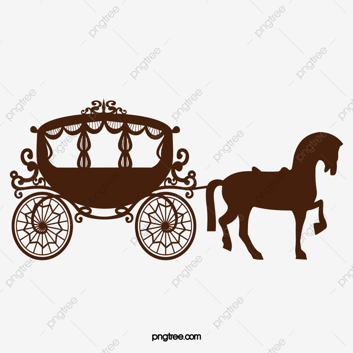 Carriage clipart transparent background. Dark horse vector png