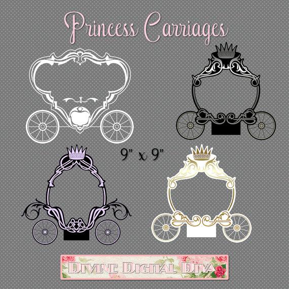 Carriage clipart transparent background.  princess text frames