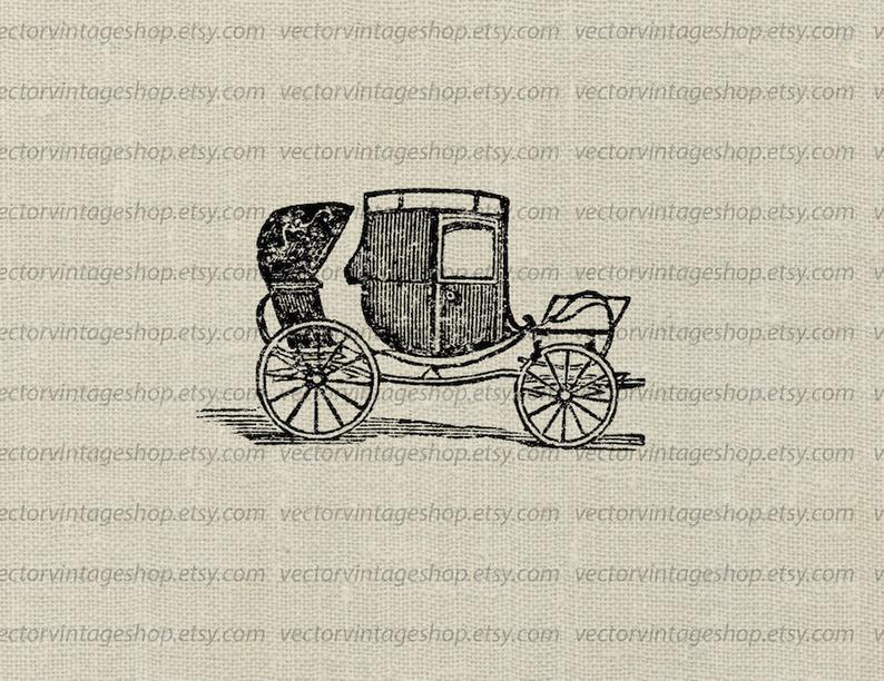 Carriage clipart vector. Victorian instant download berlin