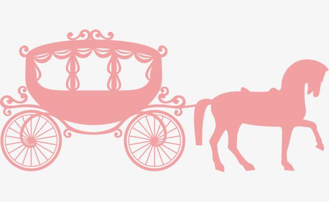 Pumpkin pink romantic png. Carriage clipart vector