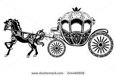 Cinderella pumpkin clip art. Carriage clipart vector