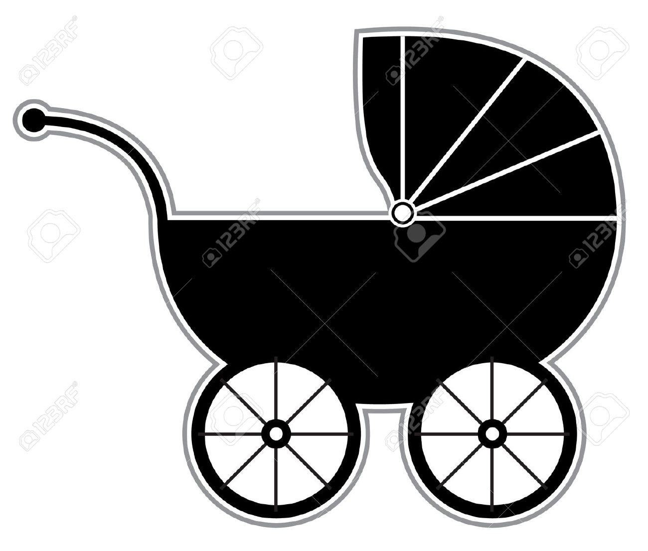 Carriage clipart vector. Baby free collection download
