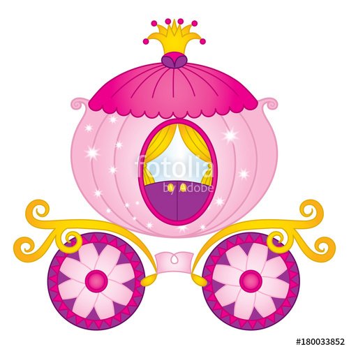 Carriage clipart vector. Princess cinderella stock image