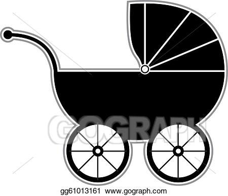 Carriage clipart vector. Stock baby illustration gg