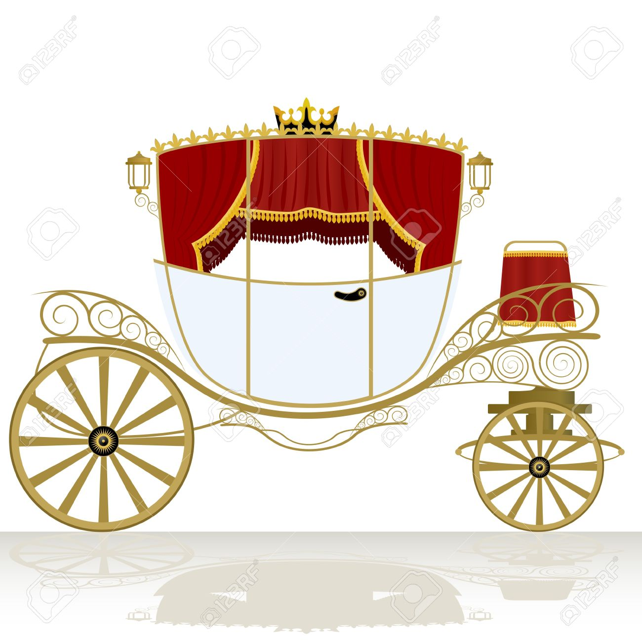 Old transportation pencil and. Carriage clipart vector