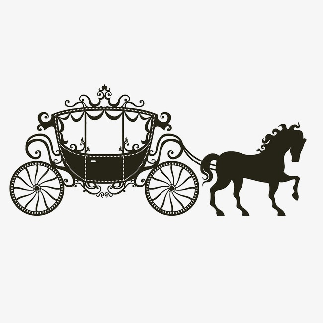 Black and white png. Carriage clipart vector
