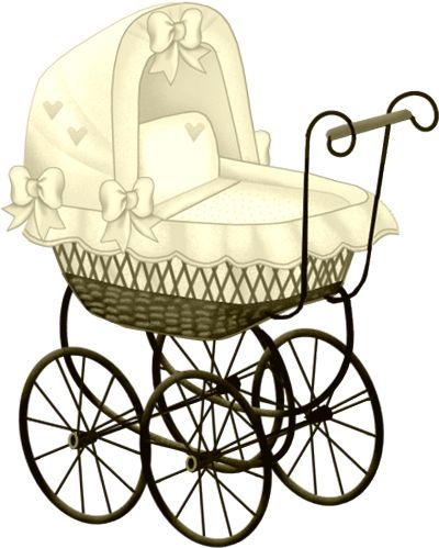 Baby silhouette clip art. Carriage clipart vintage