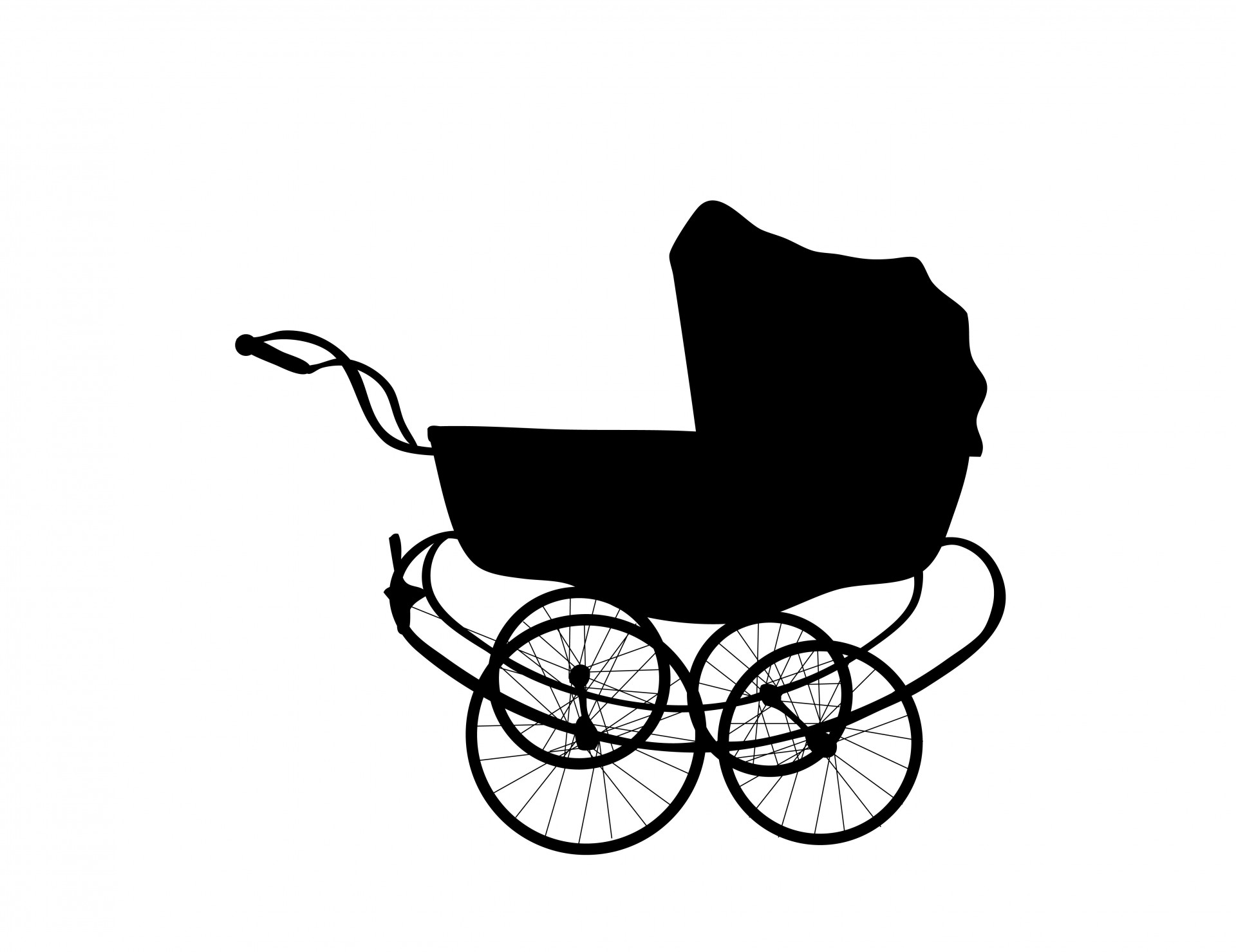 Baby free stock photo. Carriage clipart vintage