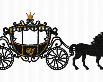 Carriage clipart wedding carriage. Horse and buggy silhouette