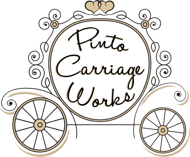 Pinto works horse pony. Carriage clipart wedding carriage