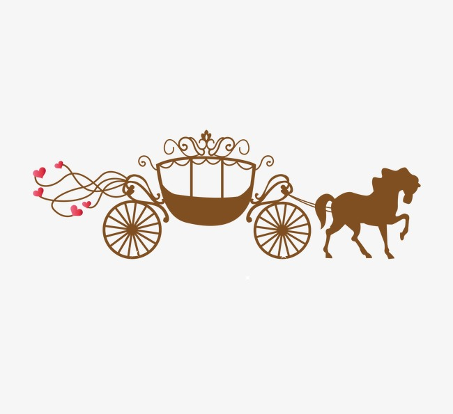 Romantic png and vector. Carriage clipart wedding carriage
