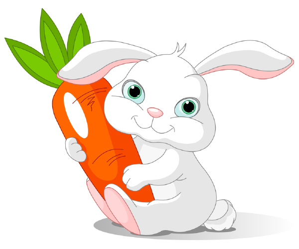 Clipart rabbit carrot. Bunny and animal icons